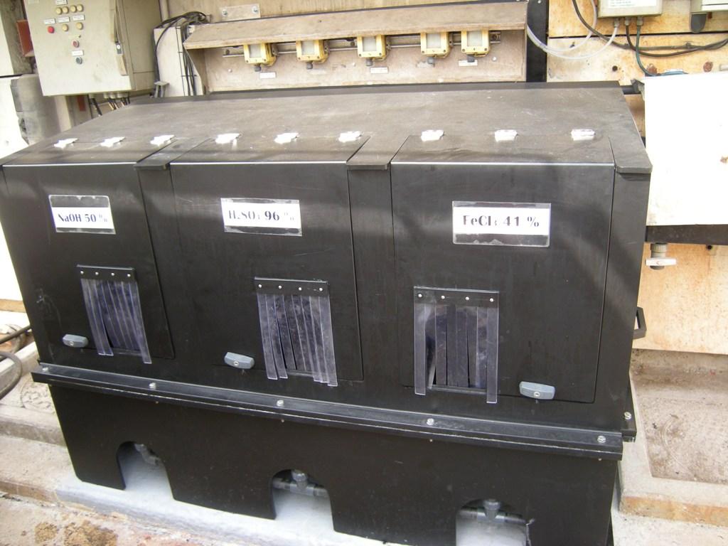 Coffret de dépotage triple DN100 sur mesure